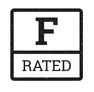 F rated logo-black